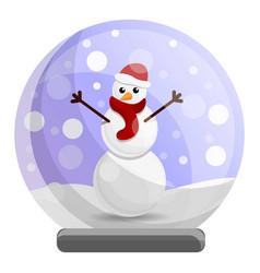 Snowglobe snowman icon cartoon style vector