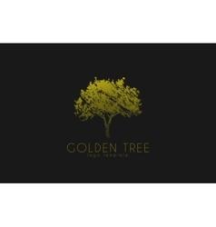 Tree logo Golden tree Nature logo design vector
