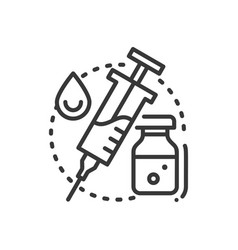Vaccination - line design single isolated icon vector