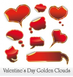 Valentine's stickers vector image