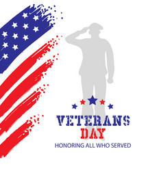 Veterans day honoring all who served vector