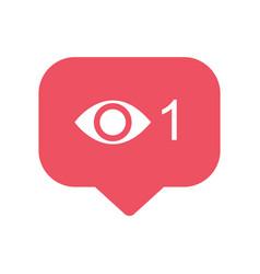 View popular icon notification symbol instagram vector