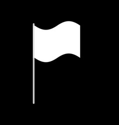 white flag isolated surrender symbol vector image