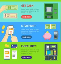 cartoon payment banner horizontal set vector image