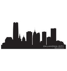 Oklahoma City skyline Detailed silhouette vector image vector image