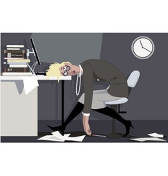Working overtime vector image vector image