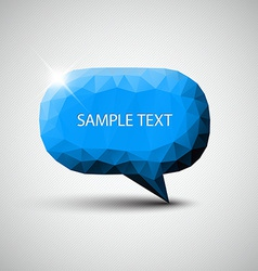 Abstract blue speech bubble vector image vector image