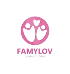 family logo design template vector image