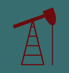 Flat icon on stylish background gas production vector