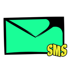 sms icon icon cartoon vector image