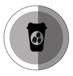 sticker monochrome circular emblem with disposable vector image vector image