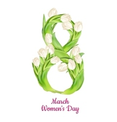 Womens Day greeting card EPS 10 vector image