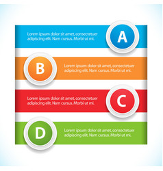 banner and button infographic vector image vector image