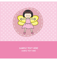 girl with princess costume vector image vector image
