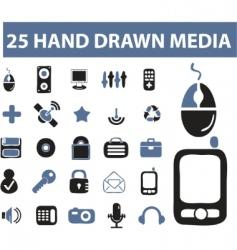 hand drawn signs vector image vector image