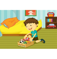 Helping at home vector image