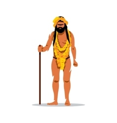 Hindu man in festival kumbh mela cartoon vector