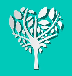 Paper Tree on Blue Background vector image vector image