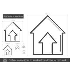 real estate price line icon vector image vector image