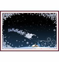 Santa and sleigh vector image