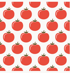 tomatoes seamless pattern vector image vector image