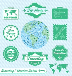 Travel Agency Labels vector image vector image