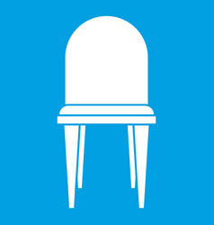 chair icon white vector image