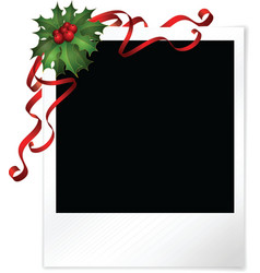 Christmas photo vector image vector image