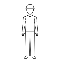 courier man avatar worker vector image vector image