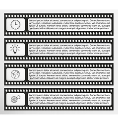 infographic filmstrip vector image