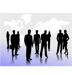 0213business people silhouettes vector image