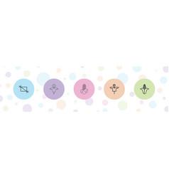 5 crop icons vector