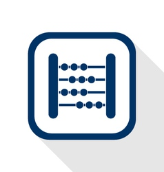 abacus flat icon vector image