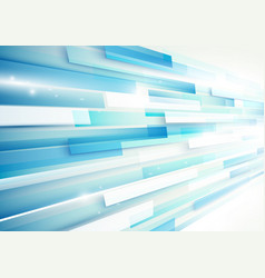 Abstract blue and white rectangles motion vector