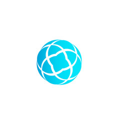 Abstract circle icon on white background vector
