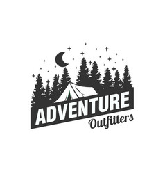 adventure logo designs with pine trees vector image