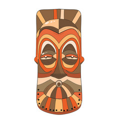 african striped mask on a white background vector image