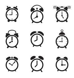 Alarm clock icons vector