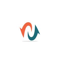 arrow circle balance logo vector image