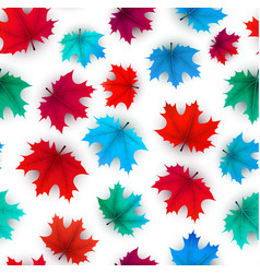 autumn background with colorful maple leaves vector image