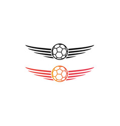 Ball logo and wing vector