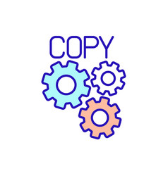 Business function rgb color icon vector