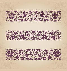 Calligraphic ornaments for design vector