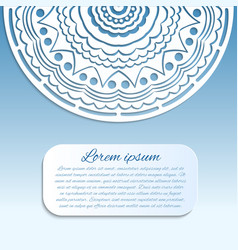 card with blue and white mandala vector image