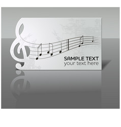 Card with notes and treble clef vector