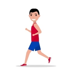 cartoon man running jogging vector image