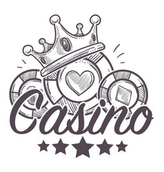 Casino poster gambling playing in poker vector