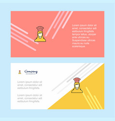 chef abstract corporate business banner template vector image