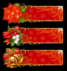 Christmas and new year banners vector