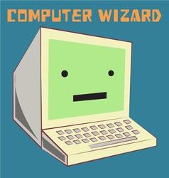 Computer Wizard vector image